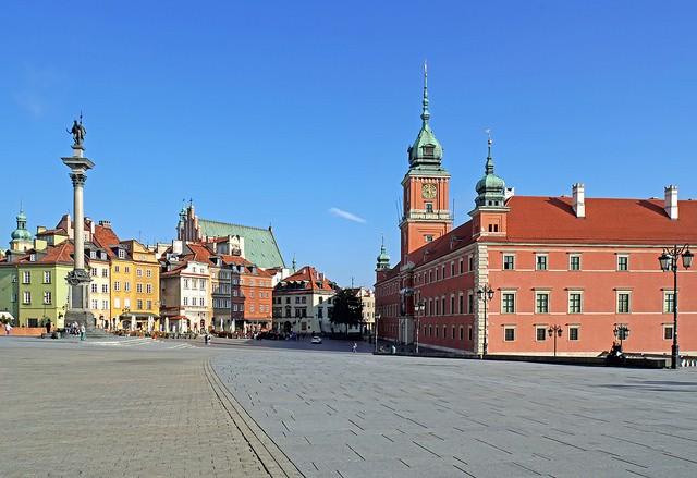 Historic square in Warsaw, Poland.