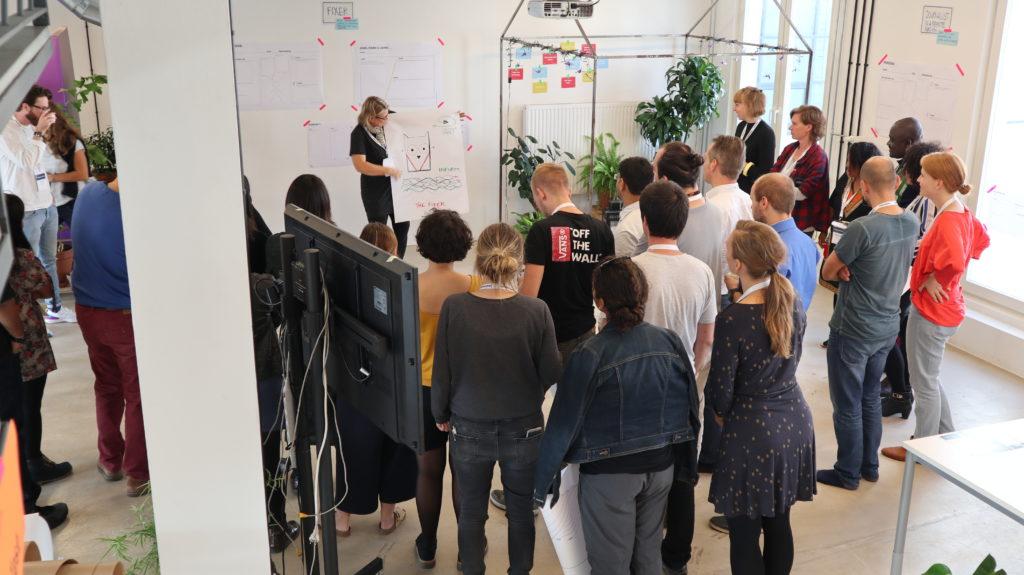 Brainstorming ideas at the Ambassador Summit. Photo credit: Bernadette Geyer